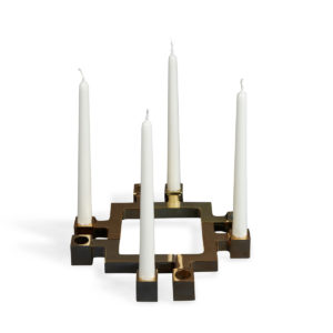 design candleholder gold