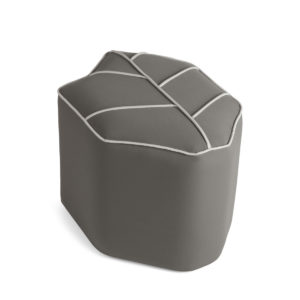 beige outdoor pouf