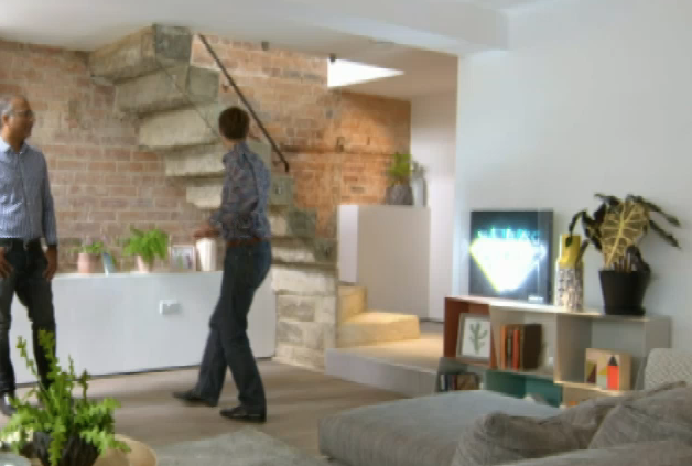 totem bookcase on tv programme Inside Out homes.