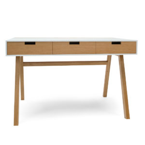 desk wood corian white