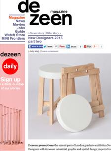 Modern modular design leaf seat stools handmade wool