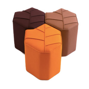indoor pouf leaf seat autumn