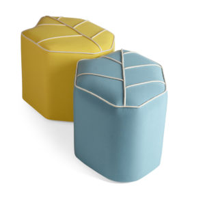 outdoor pouf light blue sunbrella