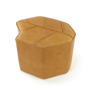 indoor pouf leaf seat leather