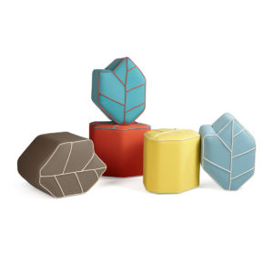 outdoor poufs leaf seat