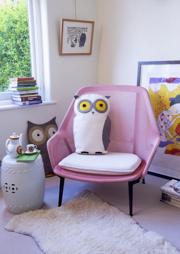 owl cushion at the Cross shop