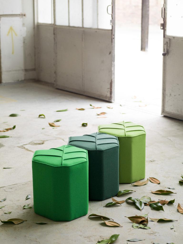 Green poufs