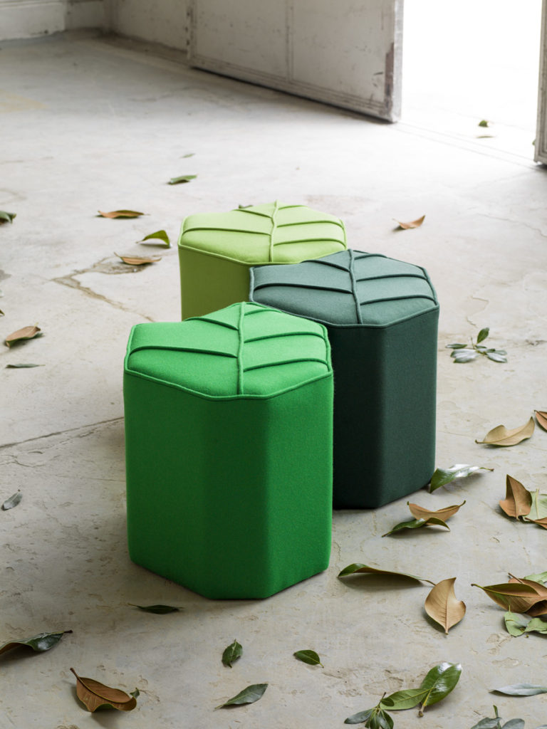 indoor pouf the leaf seat