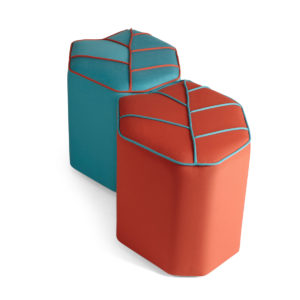 outdoor pouf red blue sunbrella
