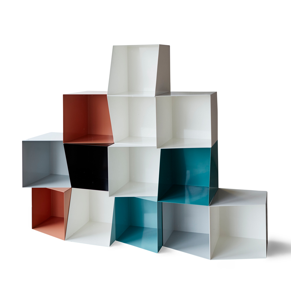 stackable design bookcase colours