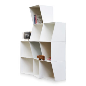 white bookcase totem