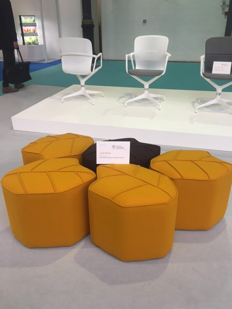 poufs at Design London