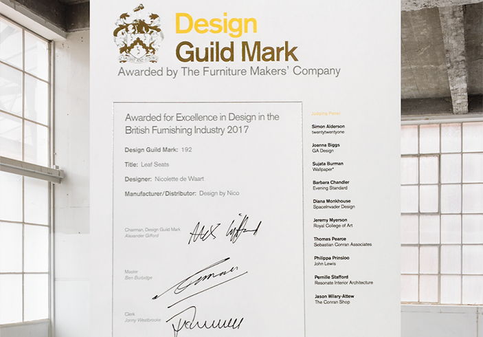 Leaf Seat receives Design Guild Mark Award!