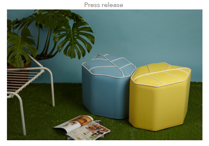 New! Outdoor poufs in soft pastels