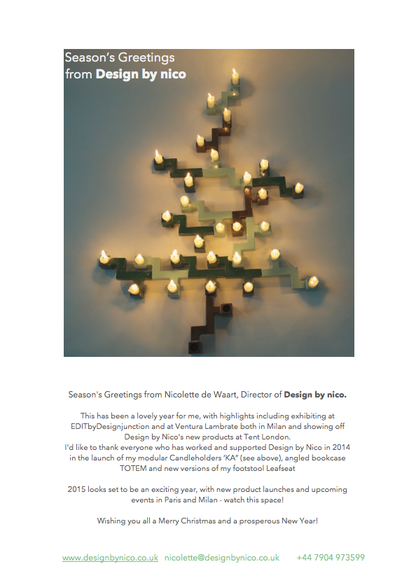 Season's greetings from design by nico