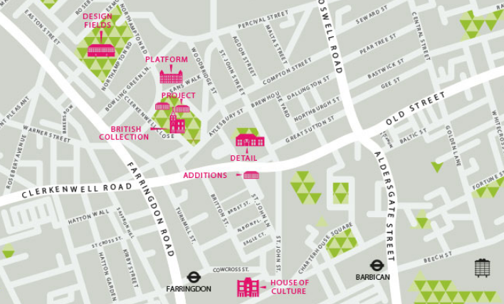 map of exhibitions of CDW