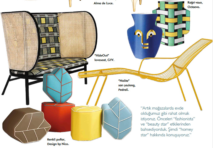 Outdoor poufs Design magazine Turkey
