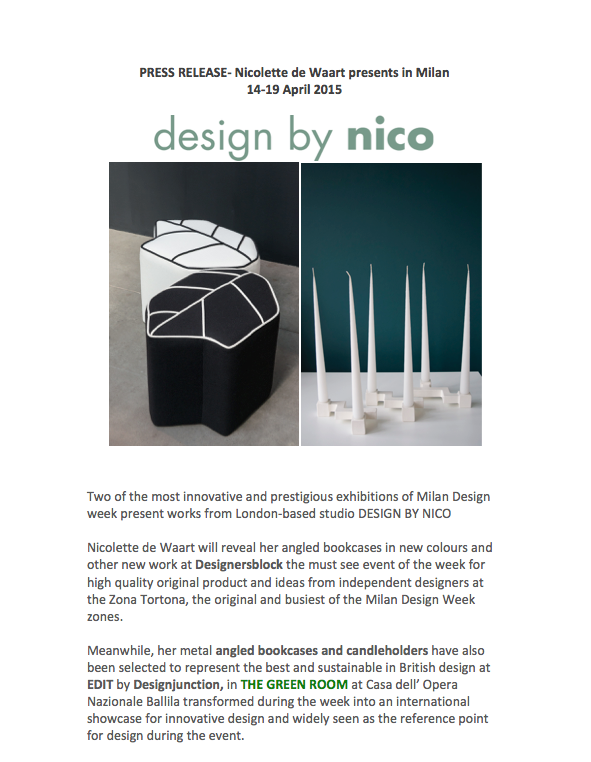 press release and invitation Design by nico Milan