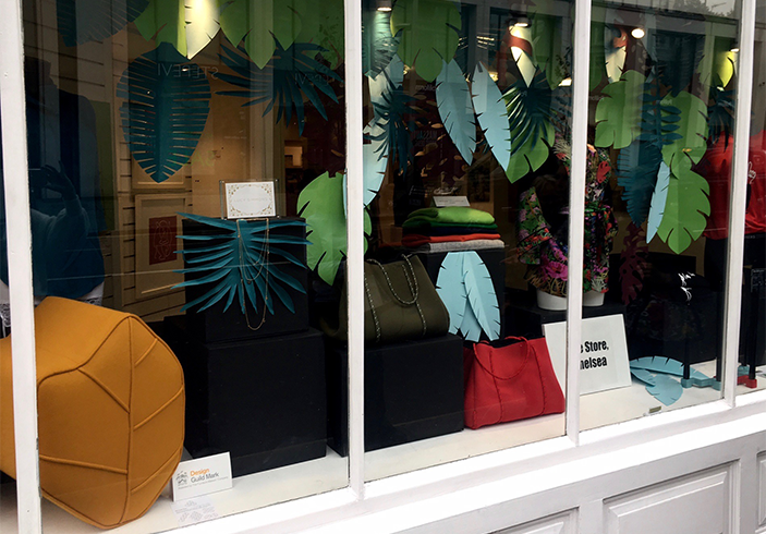 Window design at shop in Kings road